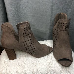 NWOT Madden Girl Tan Laser Cut Ankle Boots
